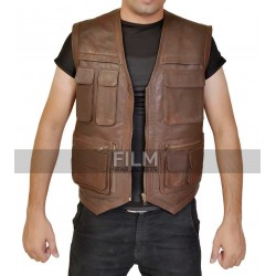 Jurassic World Hunter/Biker Leather Vest (Chris Pratt)