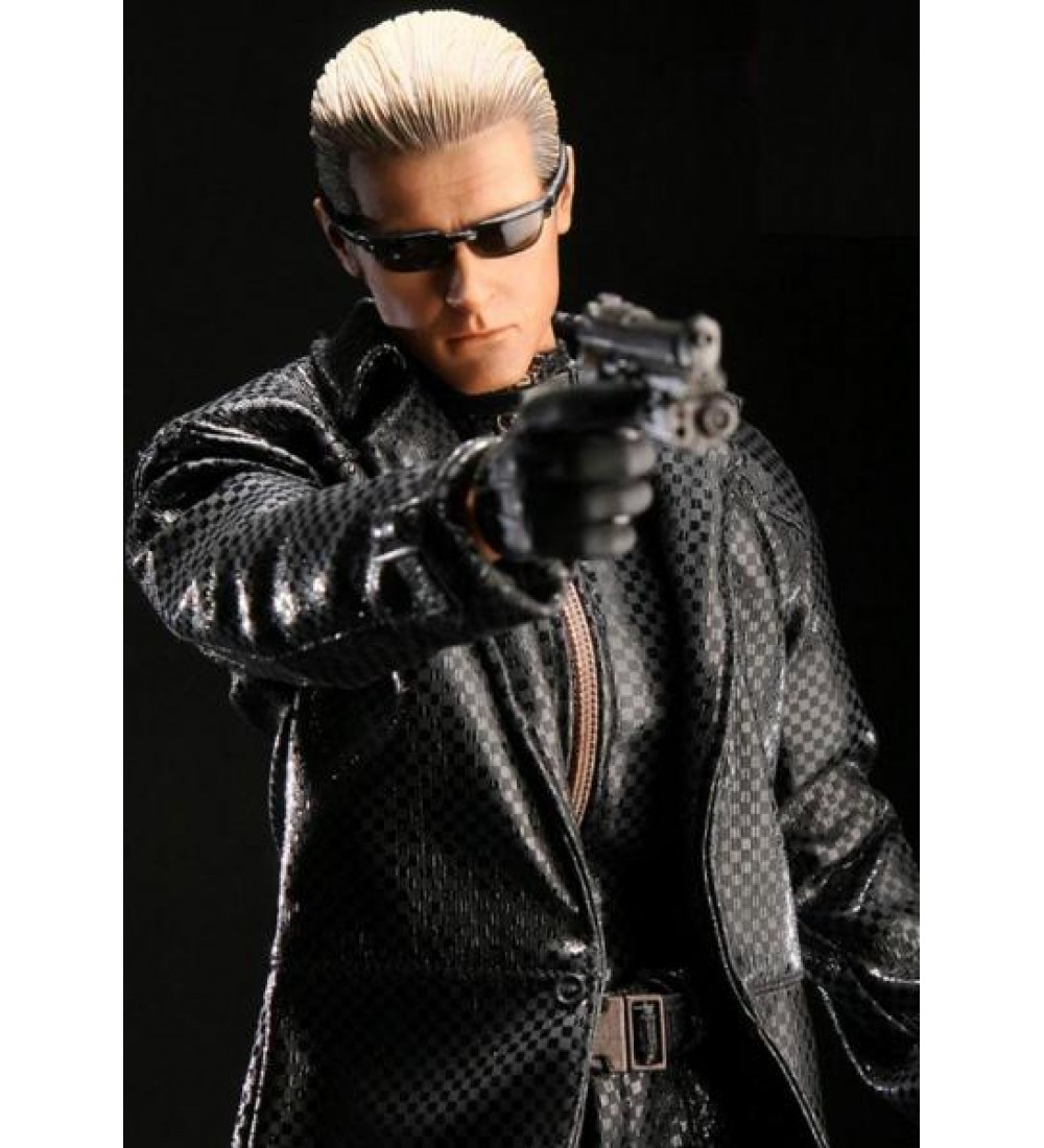 sc 1 st  Film Star Jackets & Resident Evil 5 Albert Wesker Black Leather Costume Coat