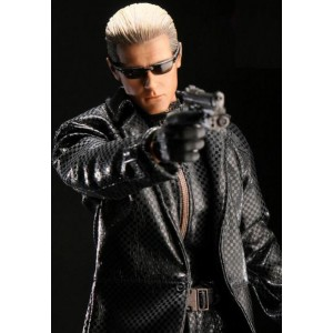 Resident Evil 5 Albert Wesker Black Leather Costume Coat