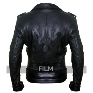 Ryan Gosling Black Biker Leather Jacket