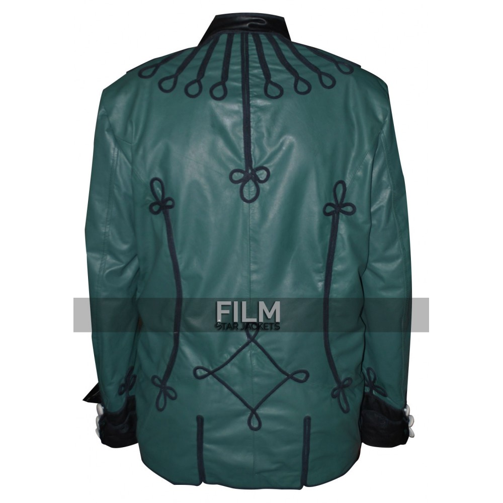 Sean Bean Sharpe's Rifles Soldier Green Leather Jacket
