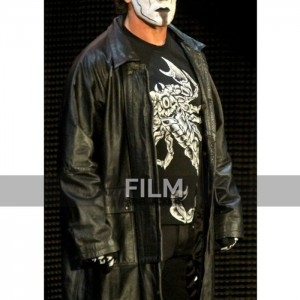 WWE Sting Returns 2015 Black Leather Coat