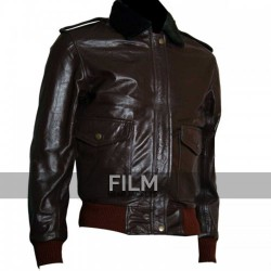 Kurt Russell The Thing R.J MacReady Leather Jacket