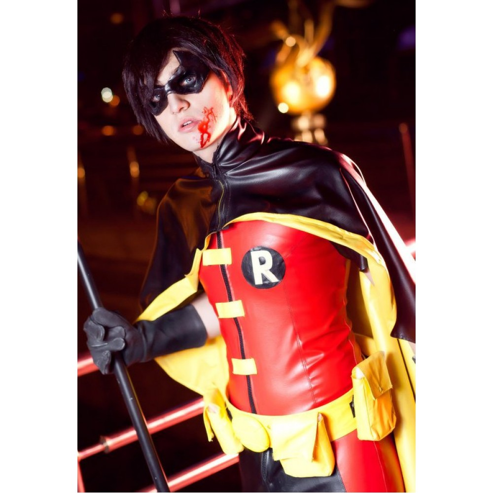Young Justice Robin Cosplay Stylish Leather Costume