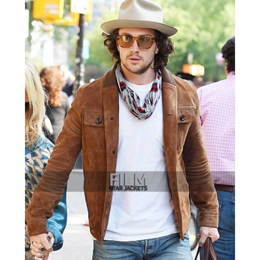 Aaron Taylor-Johnson Brown Suede Jacket