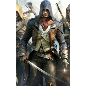 Assassin's Creed Unity Arno Dorian Leather Costume Jacket