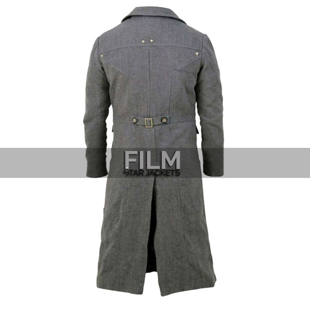 Bloodborne Game Hunter Costume Grey Trench Coat