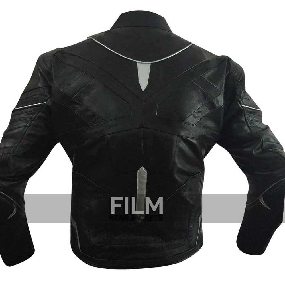 Black Panther Captain America Civil War Leather Jacket