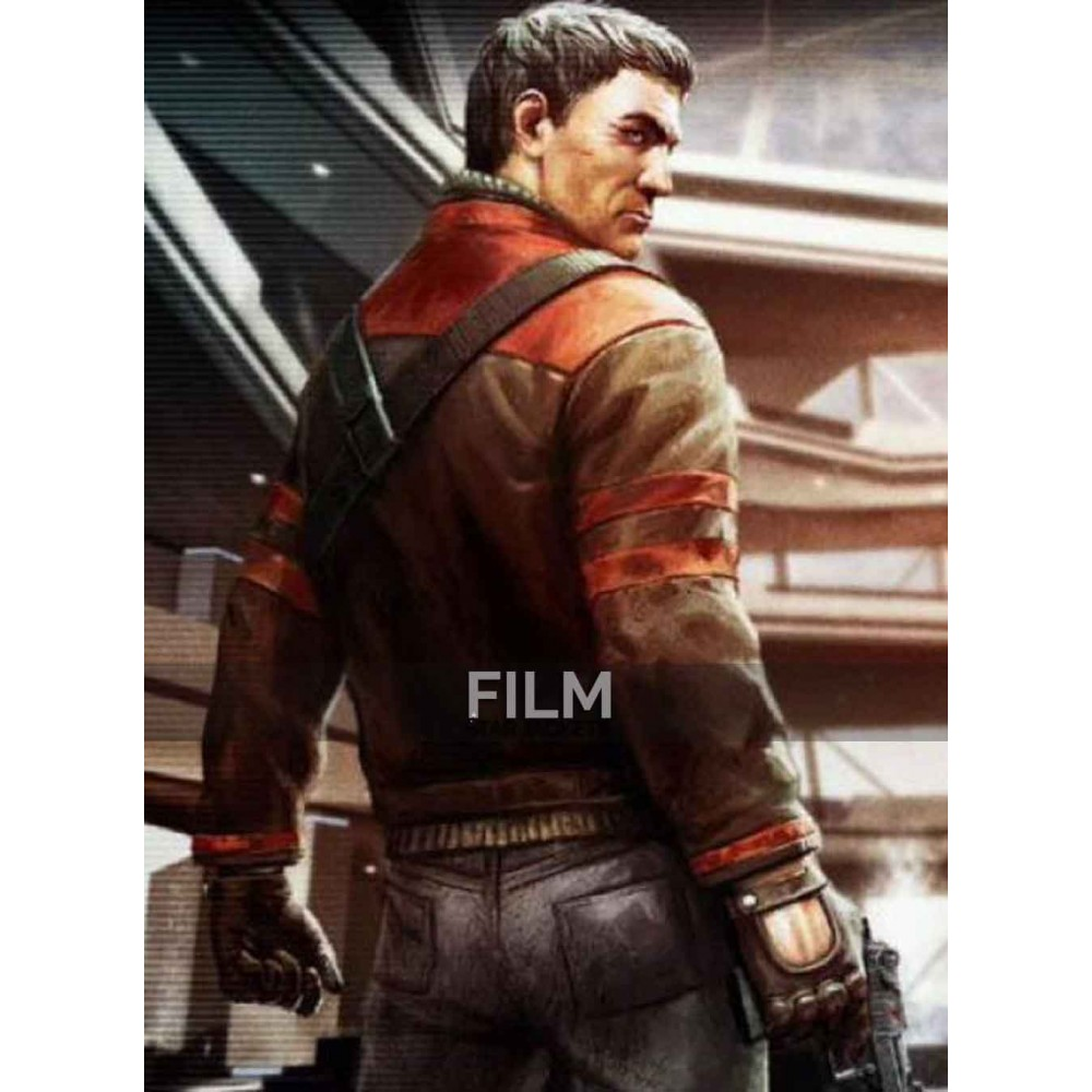Contract Killer 2 Gaming Bomber leather Jacket