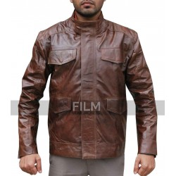Taye Diggs Day Break Detective Brett Hopper Leather Jacket