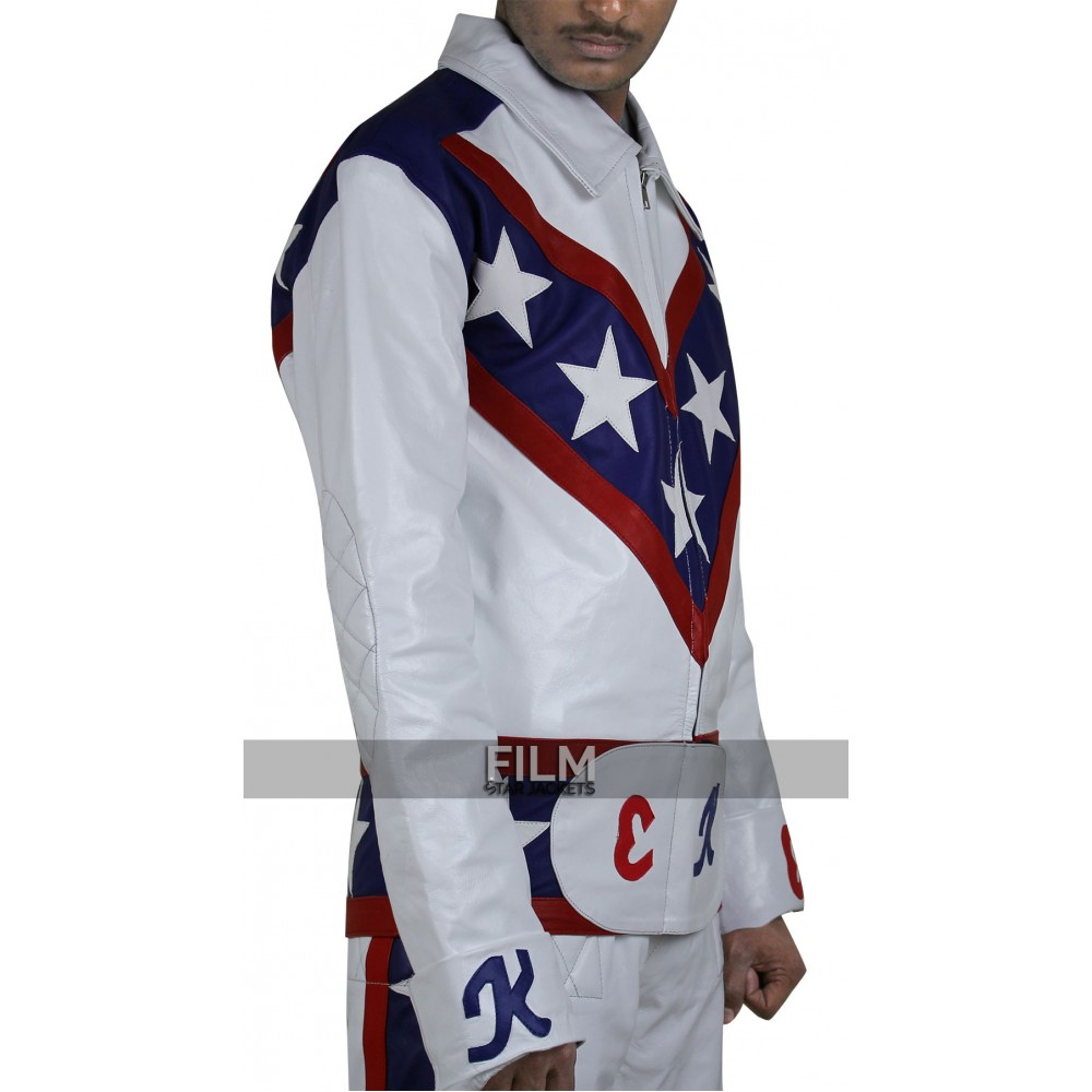 Evel Knievel Daredevil White Biker Leather Pants