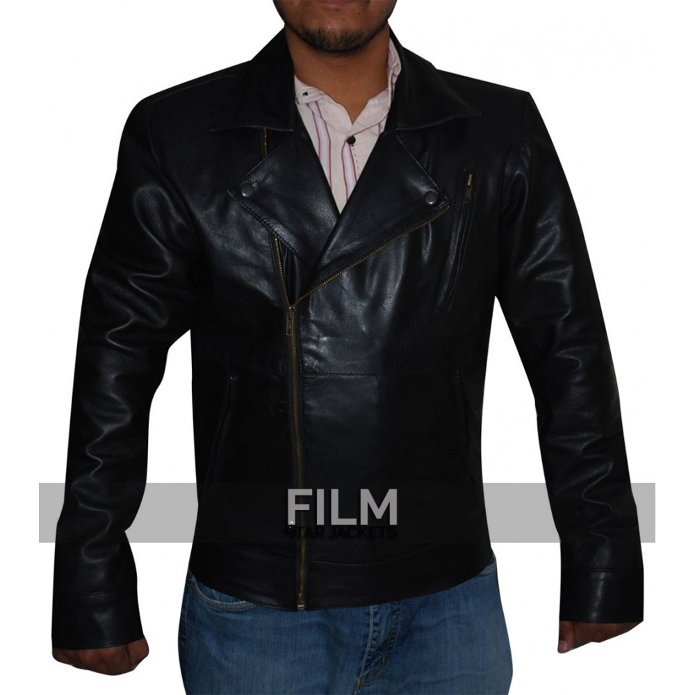 Fifty Shades Of Grey Jamie Dornan Black Leather Jacket