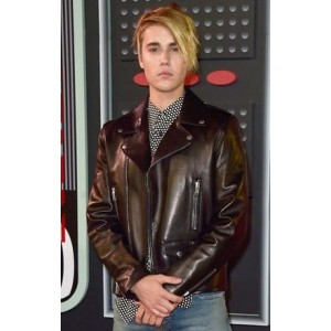 VMAs 2015 Justin Bieber Biker Leather Jacket