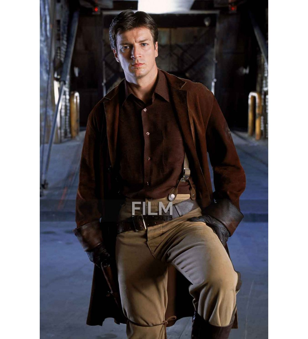 sc 1 st  Film Star Jackets & Firefly Nathan Fillion (Malcolm Reynolds) Trench Coat