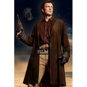 Firefly Nathan Fillion (Malcolm Reynolds) Trench Coat