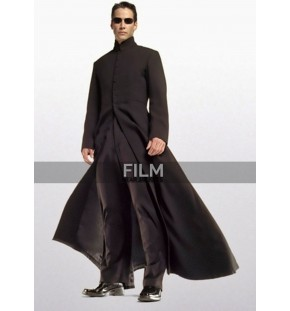 Matrix Reloaded Keanu Reeves Neo Costume Coat