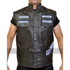 Sons Of Anarchy Jax Teller Biker Vest With Patches