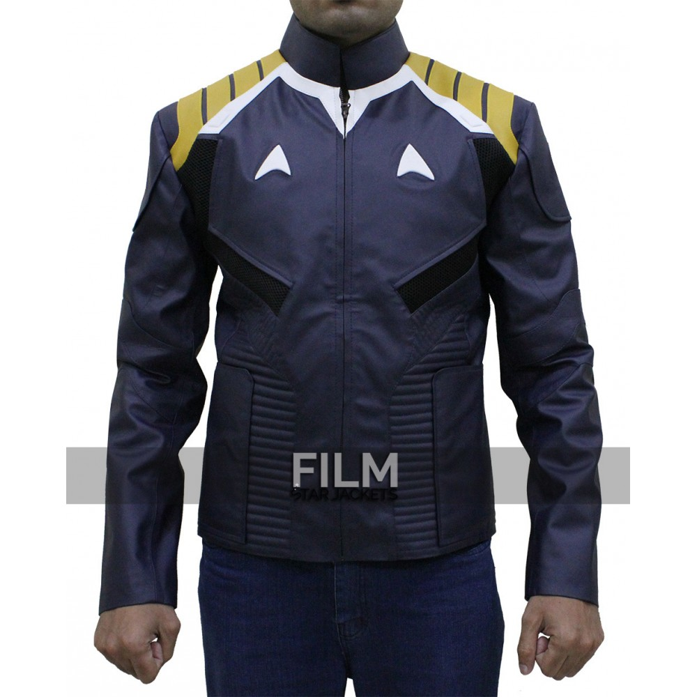 Chris Pine Star Trek Beyond Blue Leather Jacket