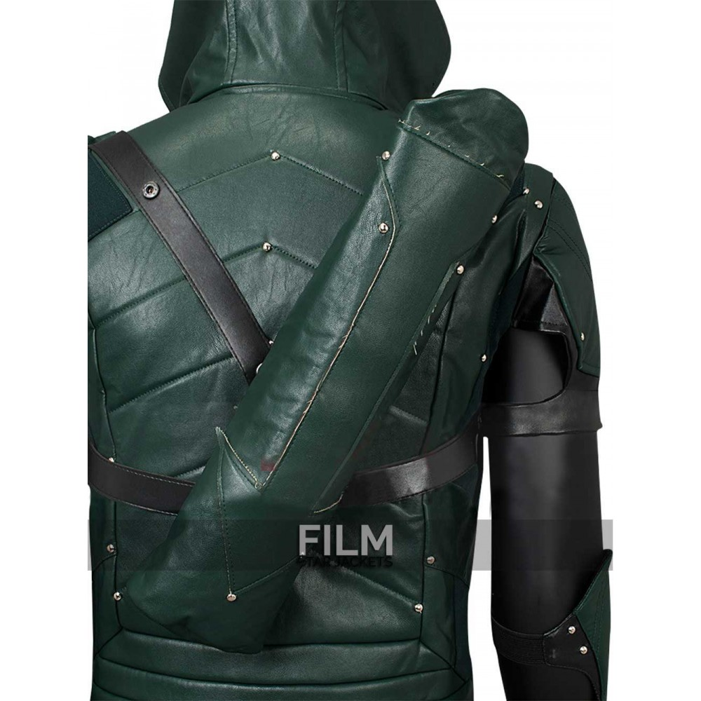 Arrow Season 4 Stephen Amell Hooded Armour Costume