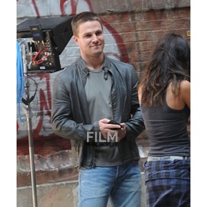 Stephen Amell Teenage Mutant Ninja Turtles 2 Leather Jacket
