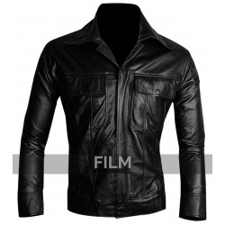 The King Of Rock Elvis Presley Black Leather Jacket