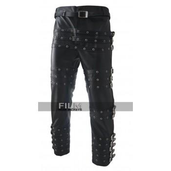 Michael Jackson Bad Black Leather Pants Trousers