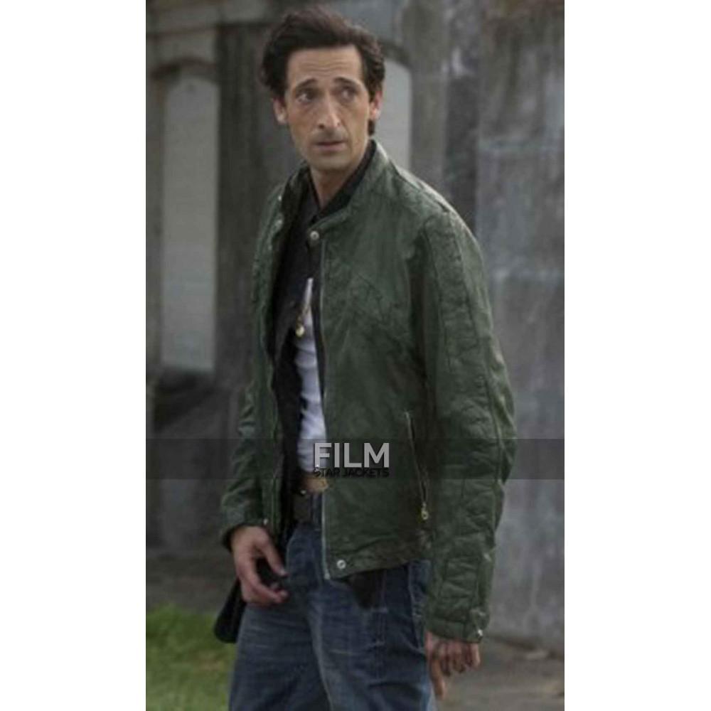 American Heist Adrien Brody (Frankie) Green Jacket