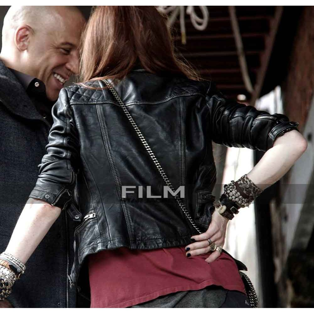 The Last Witch Hunter Rose Leslie (Chloe) Biker Jacket