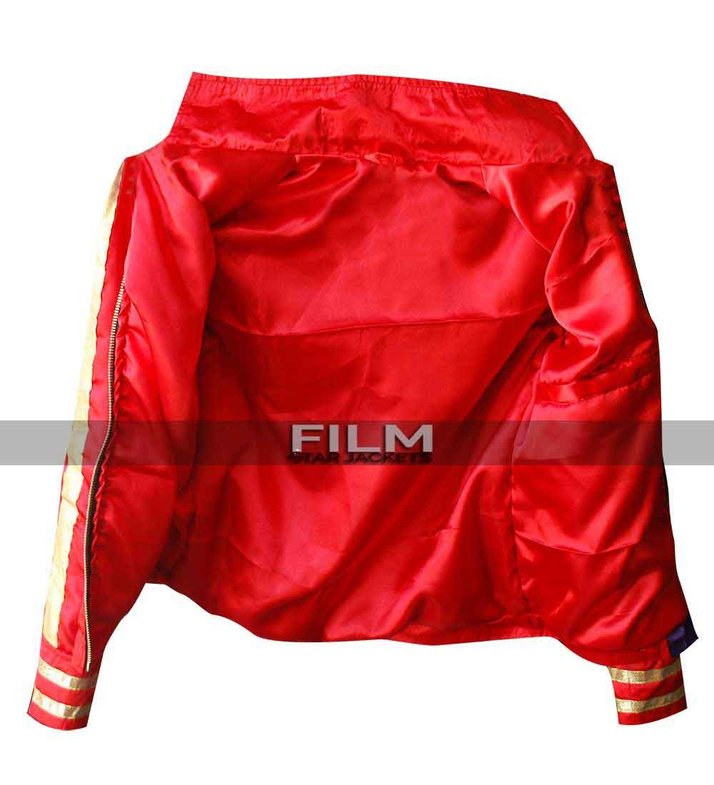 Two Tone, Color Block Harley Quinn Bomber Jacket from the ...