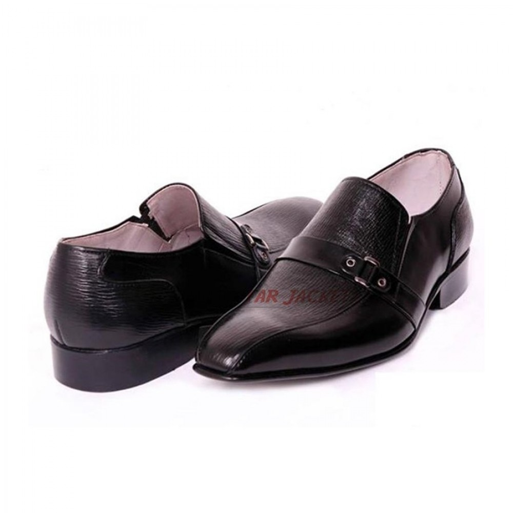 Morab Full Strap Loafer Black Shoes