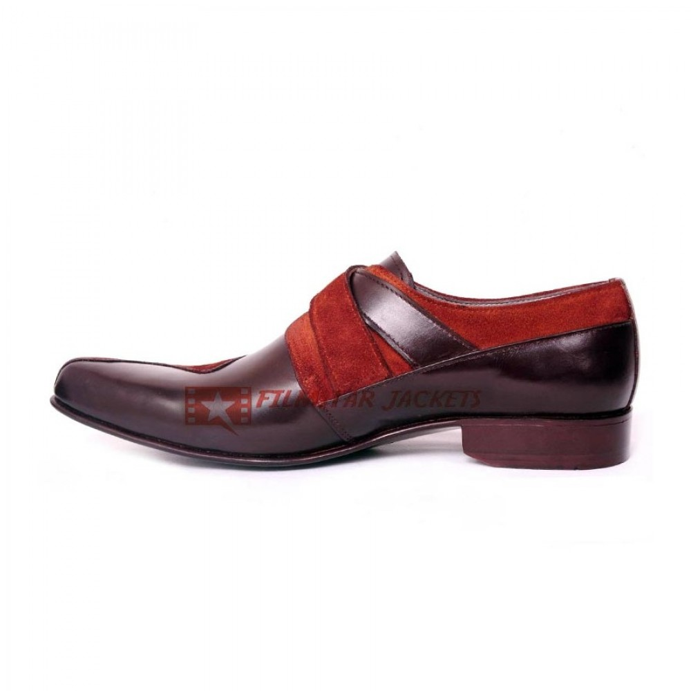 Mustang Double Monk Strap Velvet Shoes