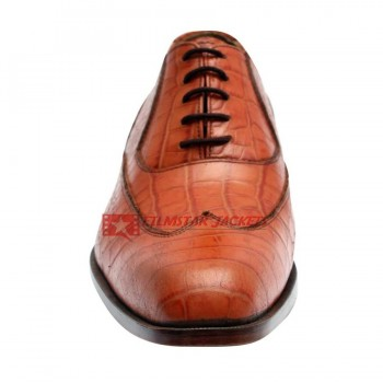 Norwegian Fjord Lizard Skin Brown Shoes