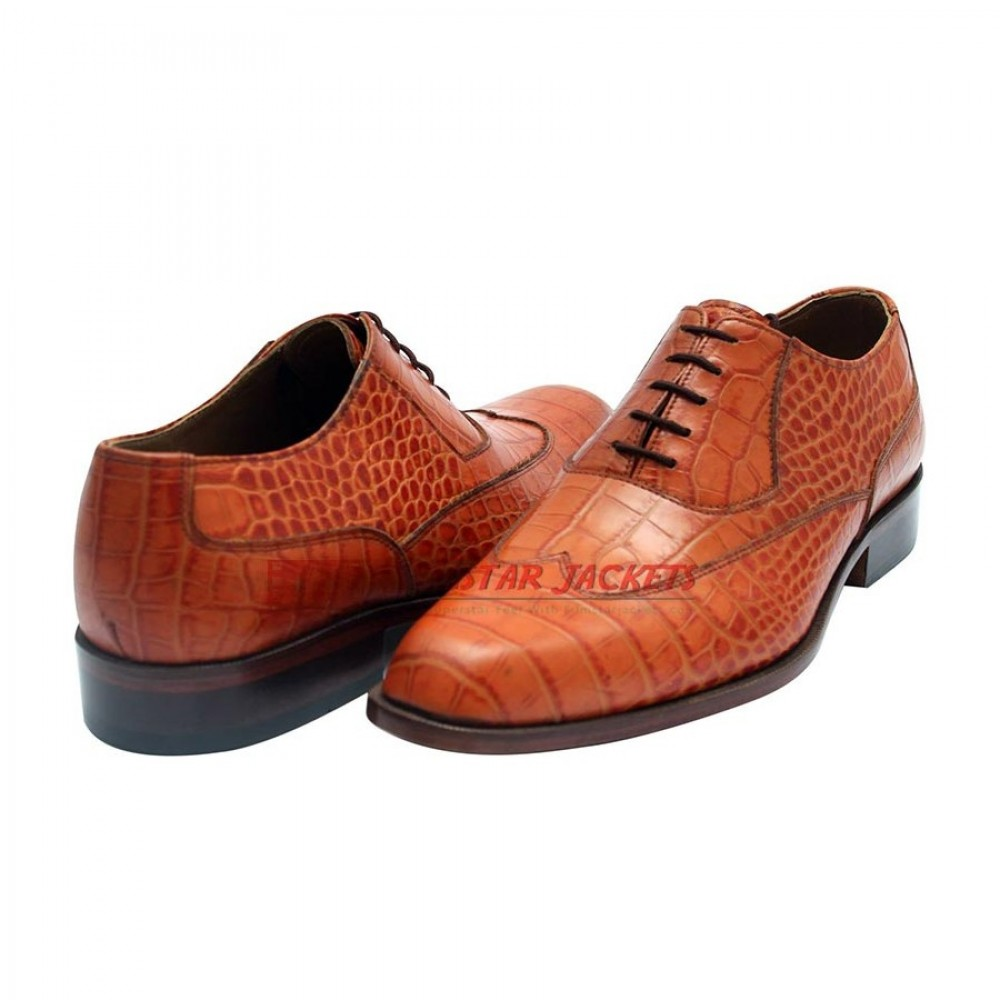 Norwegian Fjord Lizard Skin Brown Shoes