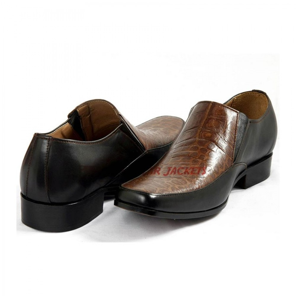 PIETRO - Rock, Stone Two Tone Dress Shoes