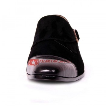 POMPEII Single Monk Strap Formal Black Shoes