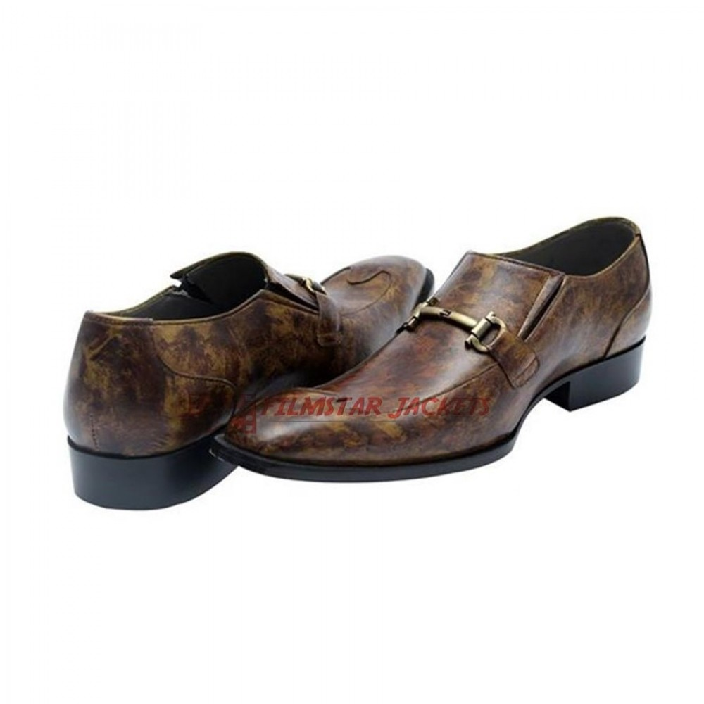 SHAGYA ARABIAN Horsebit Loafers Shoes With Buckle