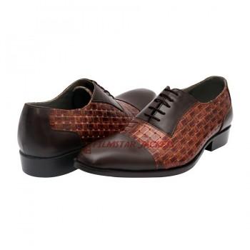 Suffolk Plain Toe Blucher Brown Shoes