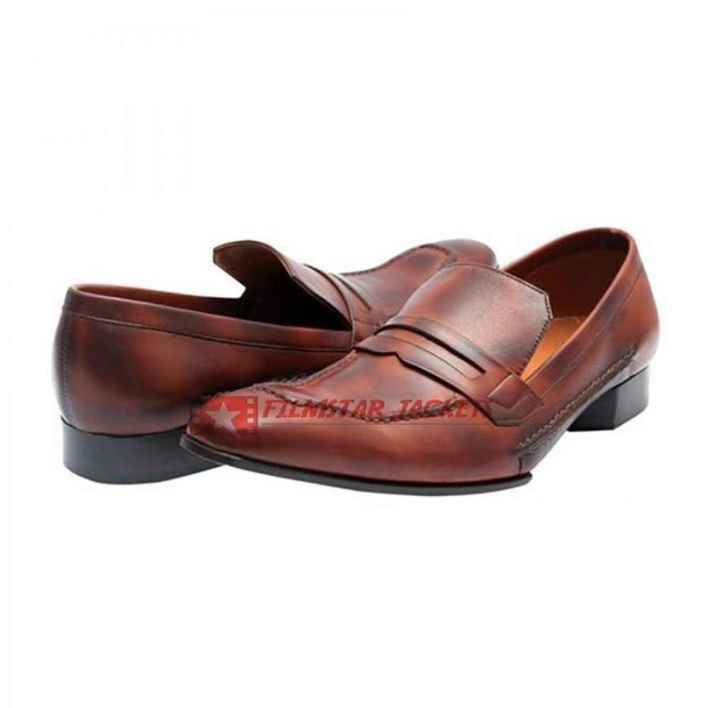 TawLeed Full strap Loafer Distressed Brown Shoes