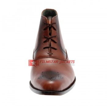 WELARA Mens Balmoral Brown Boots