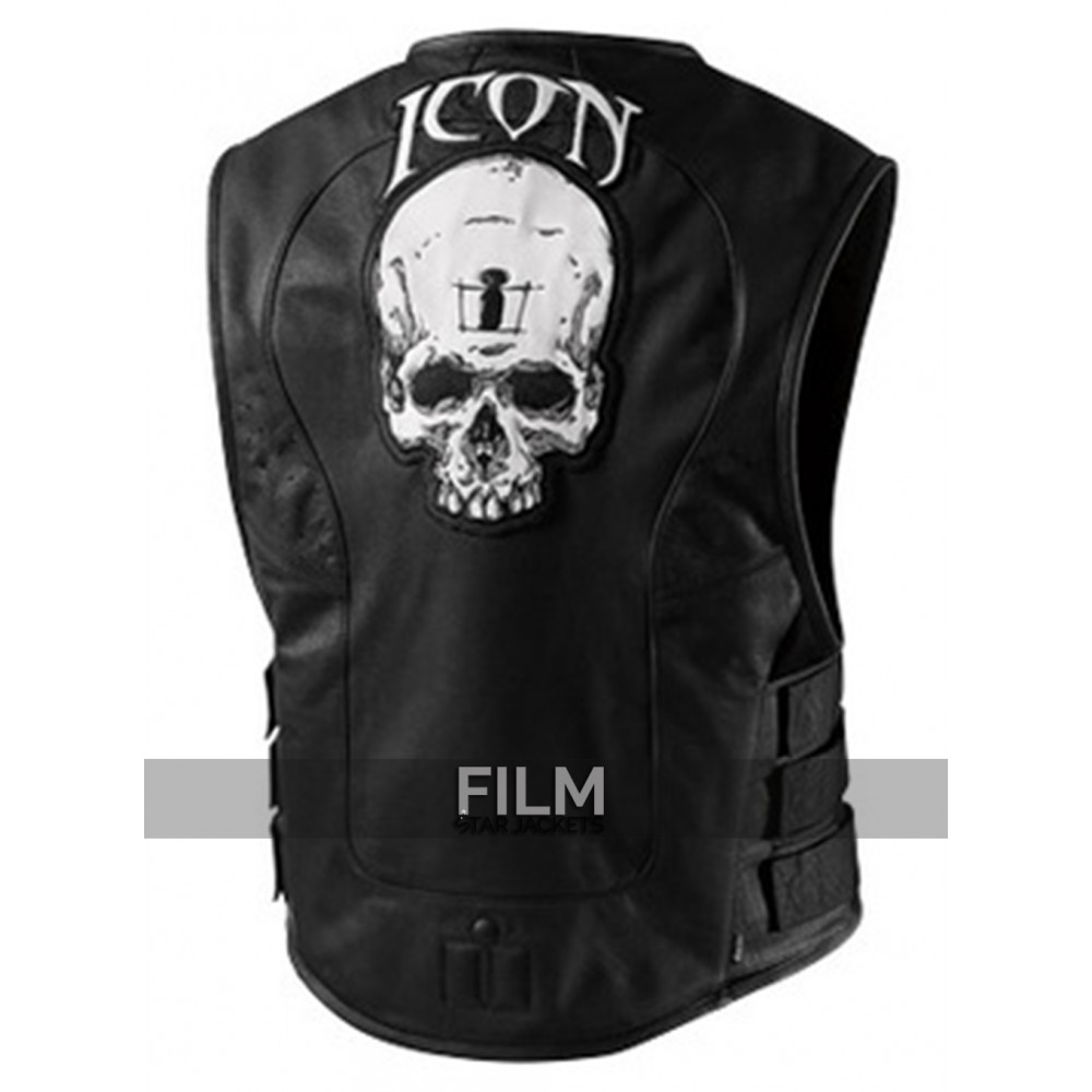 Motorcycle Icon Regulator Skull Leather Vest