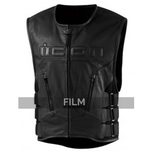 Motorcycle Icon Regulator Skull Leather Vest