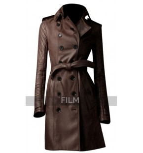 Castle Stana Katic (Kate Beckett) Leather Trench Coat
