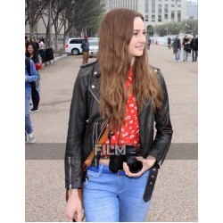 Shailene Woodley Snowden Leather Jacket
