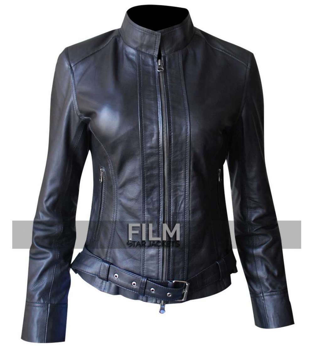 sons of anarchy women biker leather jacket. Black Bedroom Furniture Sets. Home Design Ideas