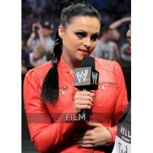 Diva Aksana Wwe Cow Hide Red Leather Jacket