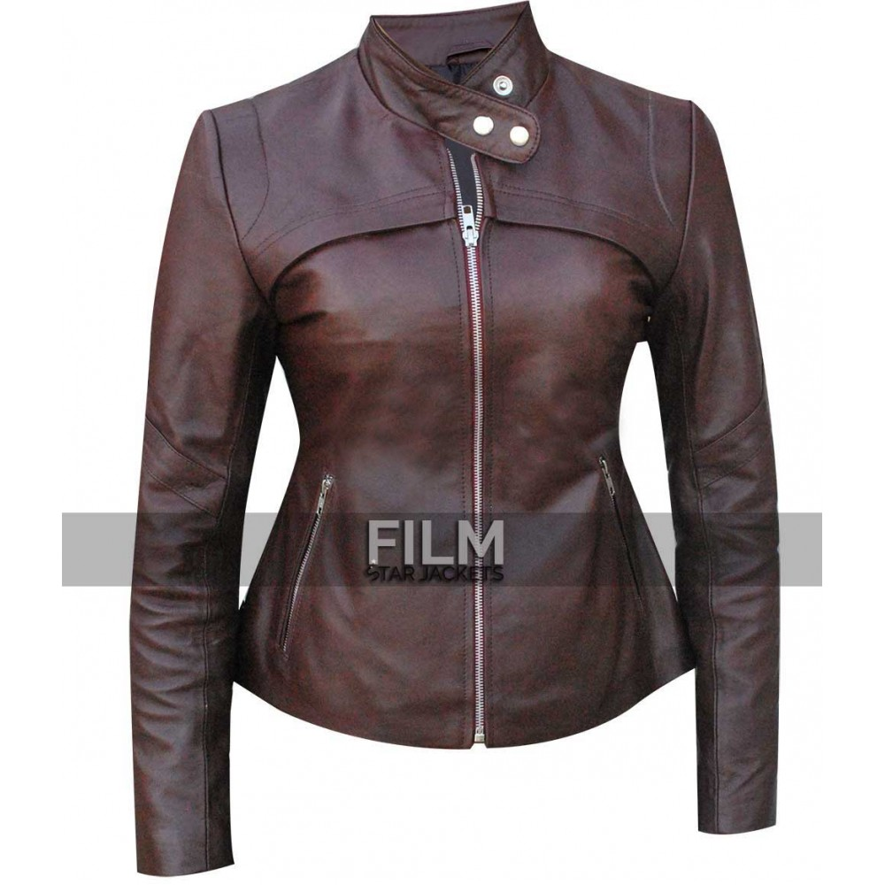 San Andreas Alexandra Daddario (Blake) Leather Jacket Costume