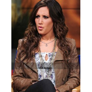 Ashley Tisdale Brown Leather Jacket