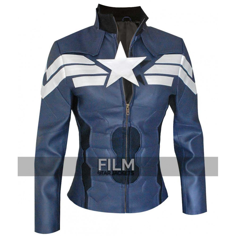 Captain America Winter Soldier Women Leather Jacket Costume