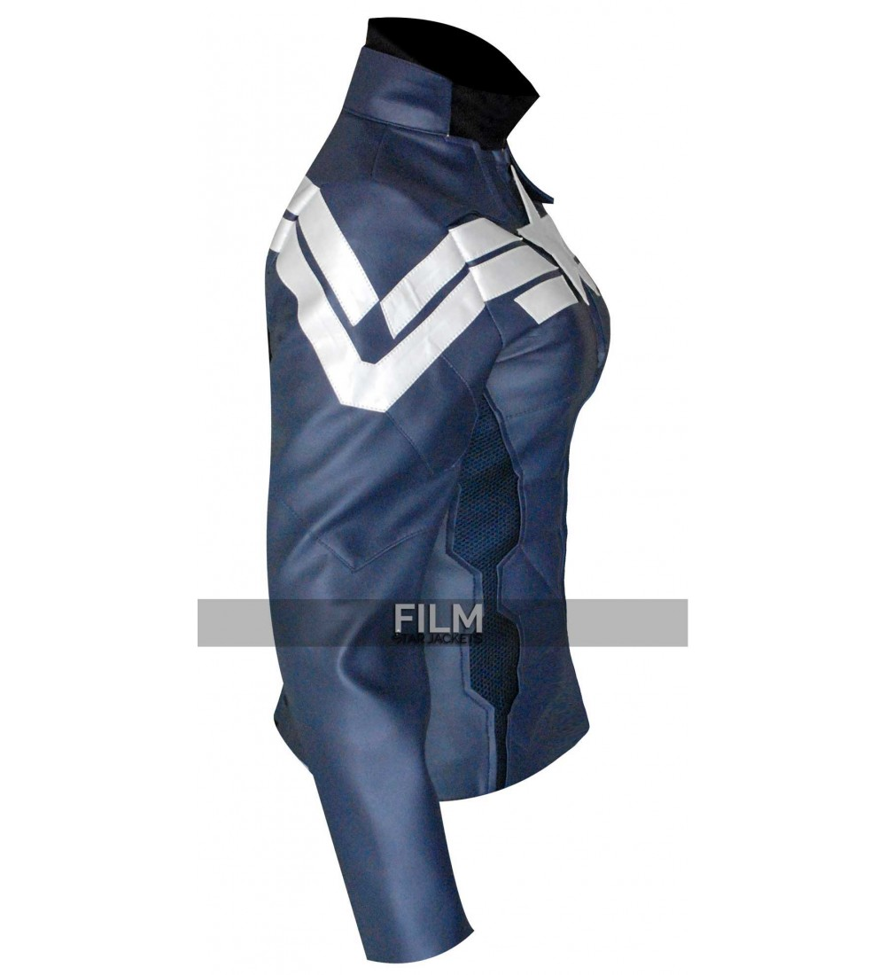 America Winter Soldier Women Leather Jacket Costume