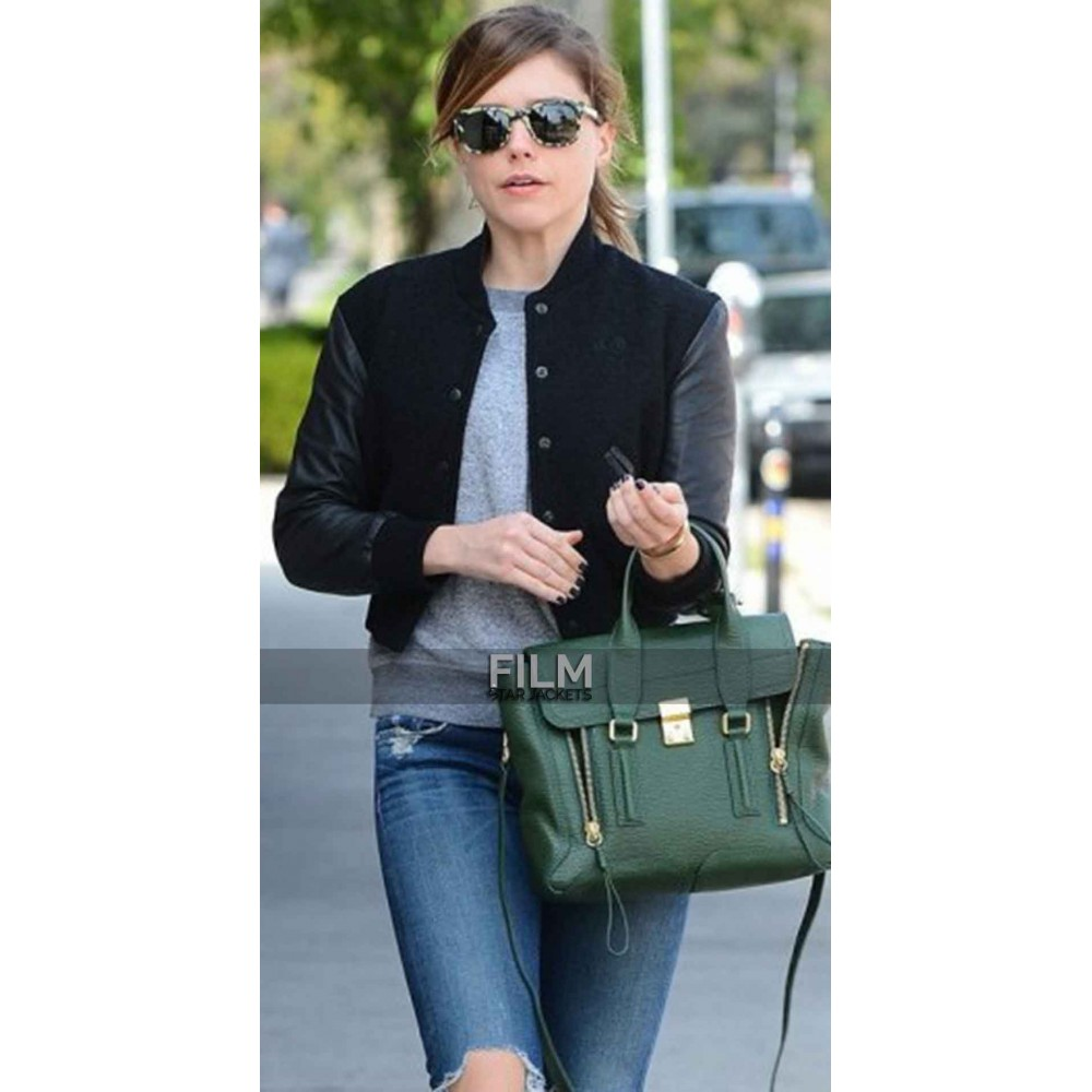 Chicago P.D. Sophia Bush Cotton Jacket With Leather Sleeves